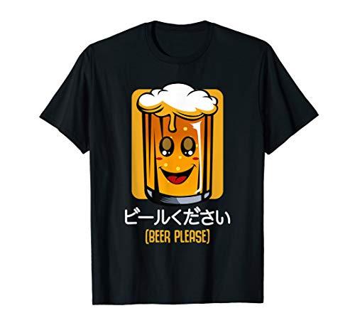 Beer Please Japanisch Alkoholisches Getränk Bier Kawaii T-Shirt