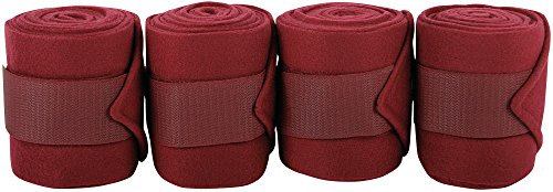 Harry's Horse Bandages Fleece 3m, 4 st, Farbe:Bordeaux