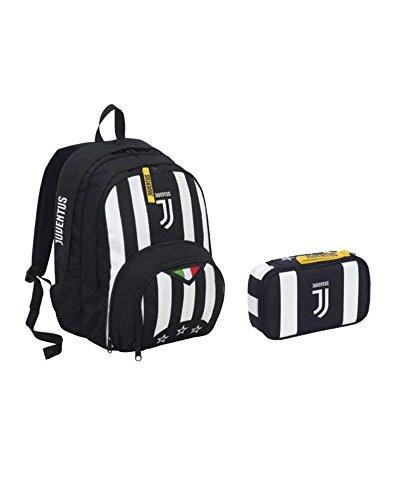 Seven- Cartella Scuola FC Juventus SCHOOLPACK Zaino + Quick Case + Pallone 2018, Colore Nero, 1