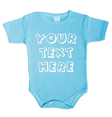 Ihr Wunsch Text Hier Baby Body Selbst Gestalten individueller Druck Personalisiert Babykleidung Strampler Unterwäsche beeindruckend Geschenk Überraschung Geburtstag Weihnachts (62 (0-3m), BLAU)
