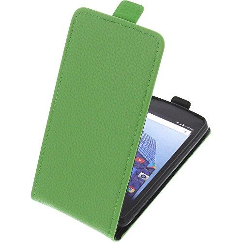 foto-kontor Tasche für Archos Access 45 4G Smartphone Flipstyle Schutz Hülle grün