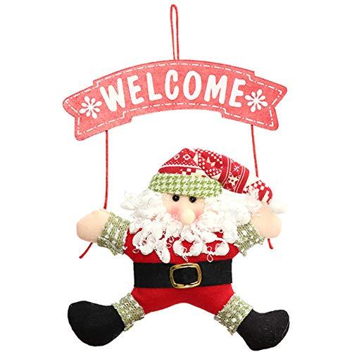 Bangle009 Weihnachtsdekoration Weihnachtsmann Schneemann Willkommens-Anhänger Ornament Haus-Tür Dekoration Verkauf Räumung, Weihnachtsmann, Einheitsgröße