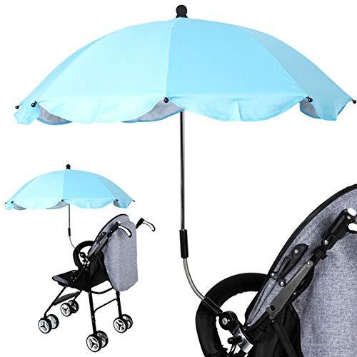 NJSDDB Regenschirm 1 stücke Hohe Qualität Einstellbare Kinderwagen Regenschirm Regen UV Schutz Kinderwagen Kinderwagen Sonnenschirm Sonnenschirm Mit Universal ClampD