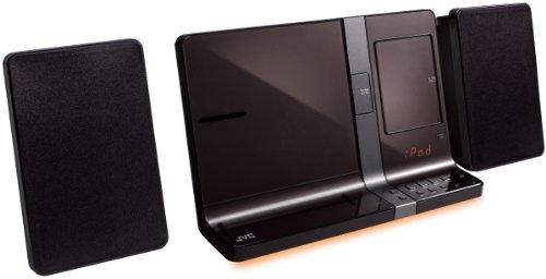 JVC Design Kompaktanlage mit Dock für Apple iPod/iPhone4/iPad (30 Watt, USB 2.0)