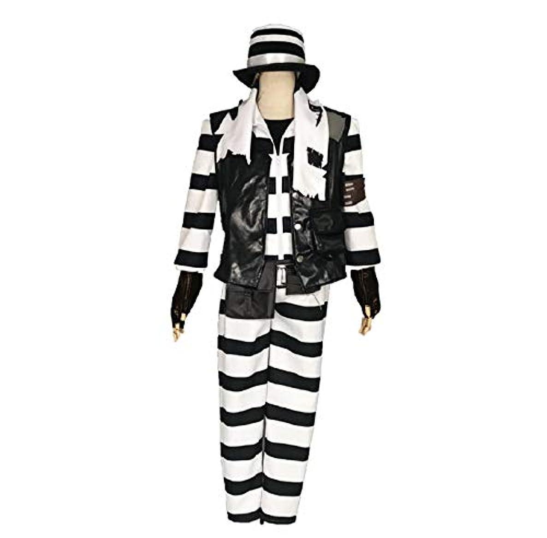 つまらない境界決してコスプレ 衣装 ジョーカー 道化師 囚人 ハンター 衣装 コスプレ用衣装 コスプレ コスチューム 仮装 cosplay 男性L