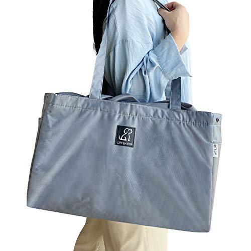 買い物カゴ用バッグ 約32L 大容量 エコバッグ ショッピングバッグ 折りたたみ 外ポケット付き 巾着 レジかごぴったり クーラーバッグ ピクニック 買い物バッグ 保温 保冷バッグ トート型保冷バッグ