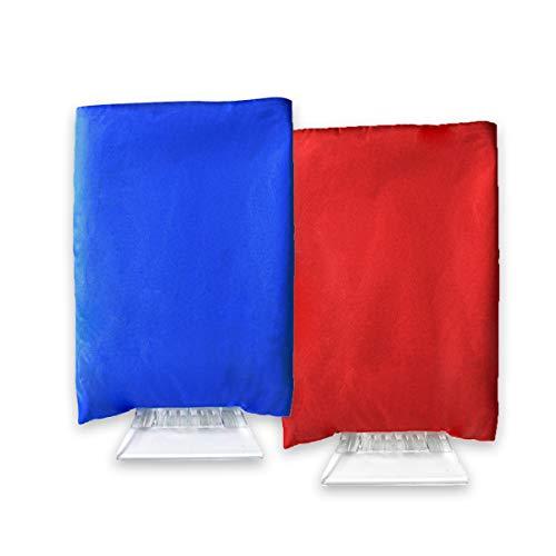 Projects Rascador de hielo con guante de poliéster – guante rascador de hielo para coche – Juego ahorro – Rascador de parabrisas para coche y camión – disponible en azul y rojo – Rasqueta de agua