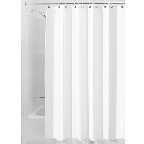 InterDesign 14662 Water Proof Mold and Mildew-Resistant Fabric Shower Stall Curtain, 54-Inch by 78-Inch, White