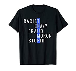 Are You Against the 45th President? Do You Want To Stand and Show Your Disdain For Him and His Political Views? Sounds Like You'd Have Fun Wearing This Word Based Apparel. Get One for Yourself Today Know Someone Who Hates Donald Trump? Would They Hav...