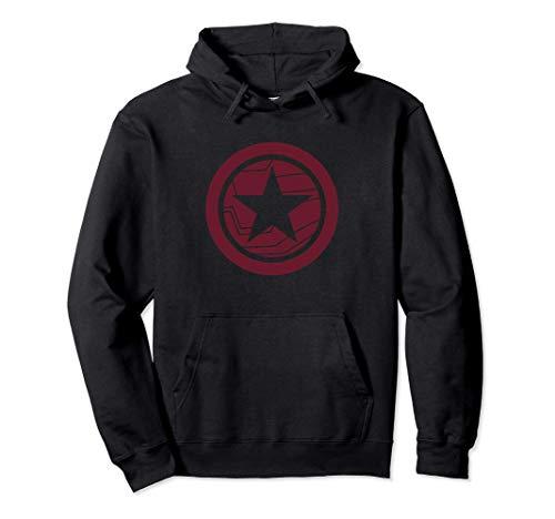 Marvel The Falcon And The Winter Soldier Flat Logo Felpa con Cappuccio