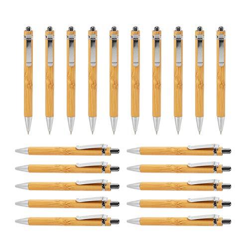 Growment Kugelschreiber Sets Versch. Mengen Bambus Holz Schreibgerät (20Er Set)