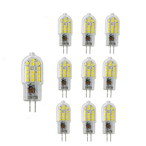 NUOXIN 10 stuks G4 3W peer koud wit 6000K G4 SMD 2835 LED 3W lampen super helder 300LM komt overeen met 30W halogeenlampen AC220-240V nieuwe soort niet-dimbaar