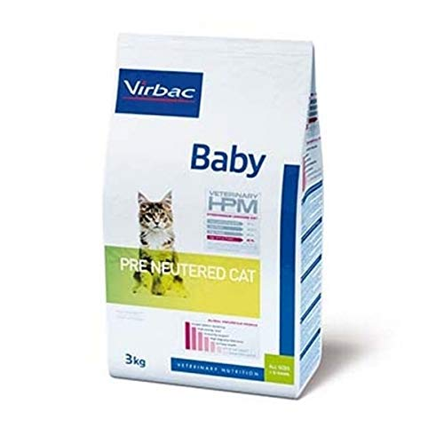 Virbac Veterinary HPM Vet Cat Baby Pre Neutered Nourriture pour Chat 1,5 kg