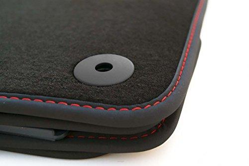 kh Teile Fußmatten MK8 Velour Automatten Original Qualität 4-teilig Ziernaht Rot