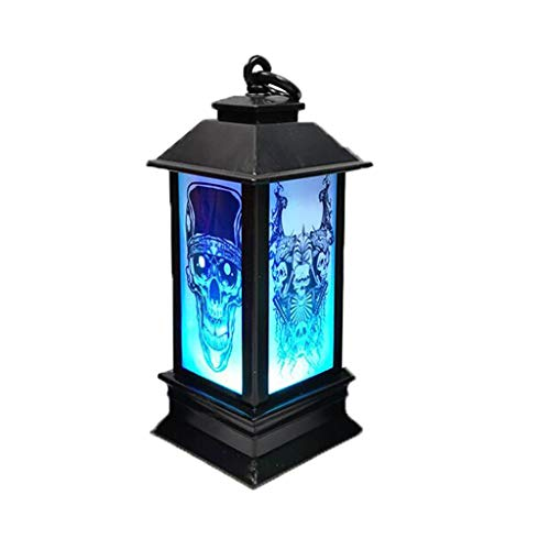 Halloween-Dekoration, Transparente LED Lampe Laterne, Bar Dekoration Supplies Hängelampe für Zuhause, Party, Veranda, Haus Witch (D, 1 Stück)