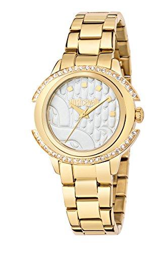 JUST CAVALLI Damen Analog Quarz Uhr mit Edelstahl Armband R7253216502