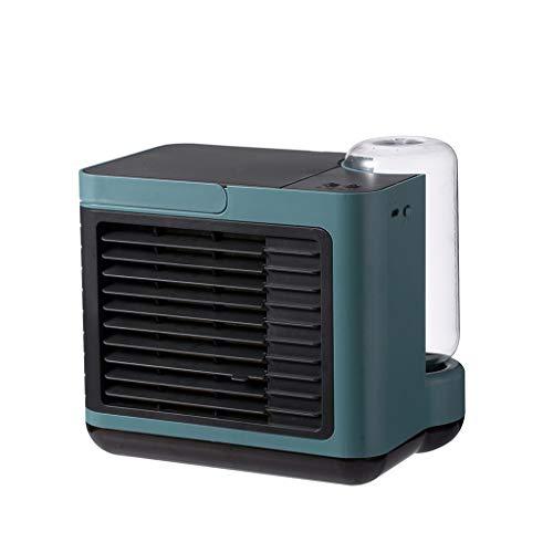 BOLUOBAO Climatiseur Portable Maison Petit Mini Eau Usb Climatiseur Mobile Silencieux Sans évacuation Refroidisseur D'air Ventilateur Rechargeable (19X16X16cm, Vert)