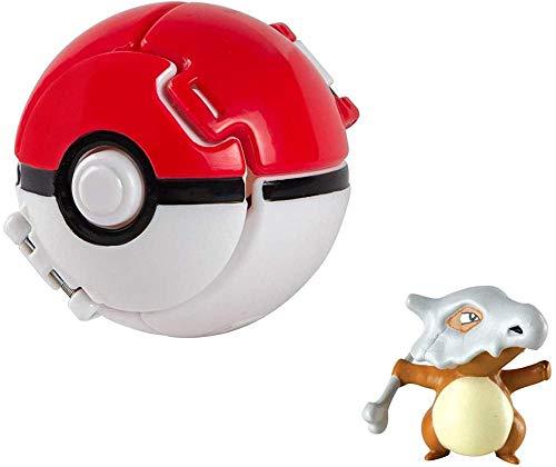 Pokemon Lets Go Pikachu con Juego de Pelota, Juego de Figuras de acción para niños (Cubone)
