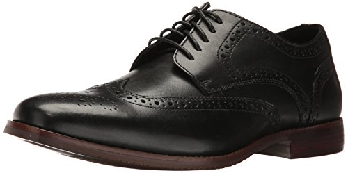 Rockport Men's Style Purpose Wing Tip Oxford, black leather, 9 W US