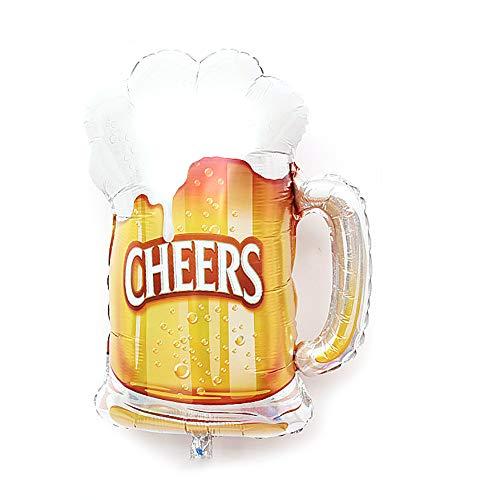 Deanyi Forma 1pc Taza de Cerveza Saludos Partido Globo de la Hoja Material balón 28 x 19 Pulgadas - Taza de Cerveza