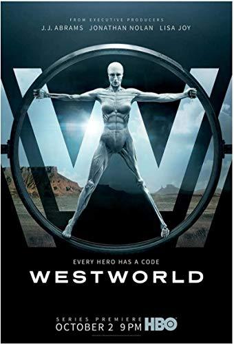 Hesuz Stampe Quadri 60x90cm Senza Cornice Westworld Stagione 1 (2016) Copertina TV Poster Soggiorno Decorazione della casa