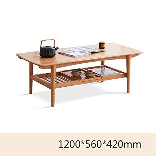 Z-GJM massief houten salontafel eenvoudige kersenhout salontafel Chinese antieke lage tafel klein appartement woonkamer salontafel de salontafel is hard, stabiel, duurzaam en heeft een natuurlijke te A