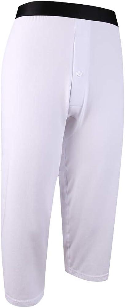 Y2Y2 Men's Cotton Stretch 3/4 Mid Johns