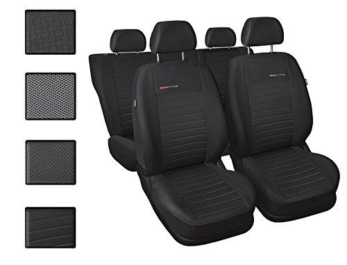 Carpendo Sitzbezüge Auto Set Autositzbezüge Schonbezüge Dunkelgrau-Grau Vordersitze und Rücksitze - Airbag geeignet - Elegance P4