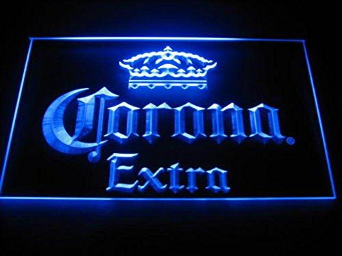 Corona Extra LED Zeichen Werbung Neonschild Blau