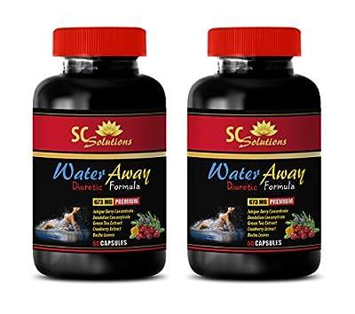 Fat Loss Capsules - Water Away Pills Natural Formula 700MG - Potassium Bulk Supplements - 2 Bottle (120 Capsules)