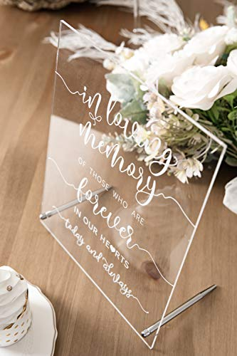 Calculs Wedding Sign, in Loving Memory Sign Acrylic Decorative Signs & Plaques 8x10 Inches Wedding Memorial Sign Remembrance Art Table Décor