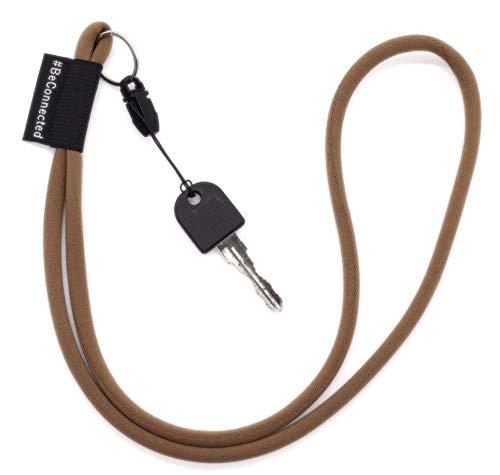 NRM-Products - Llavero largo (antracita negro, 45 cm) – Cinta con anillo para llaves, DNI, teléfono móvil, cámara – Lanyard para hombre, mujer y niños