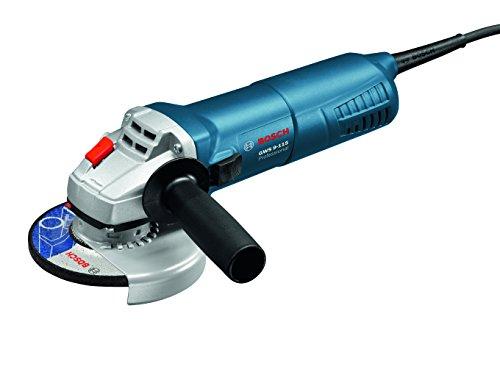 BoschProfessionalGWS9-115haakse slijper115 mm 900 watt met herstartbeveiliging, directe koeling, ambachtskoffer