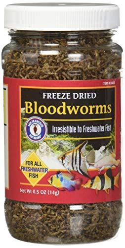 San Francisco Bay Brand/Sally's Freeze Dried Bloodworms - 0.5 oz.