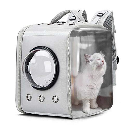 CKAN Pet Carrier Rucksack, Space Capsule Transparent Tragbarer Katzenrucksack Atmungsaktive Reise-Transporttasche für kleine, mittelgroße Hunde und Katzen