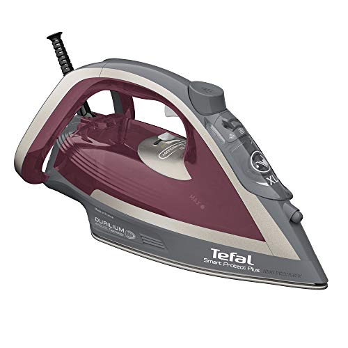 Tefal FV6870 Smart Protect Plus Plancha de vapor, rojo y gris