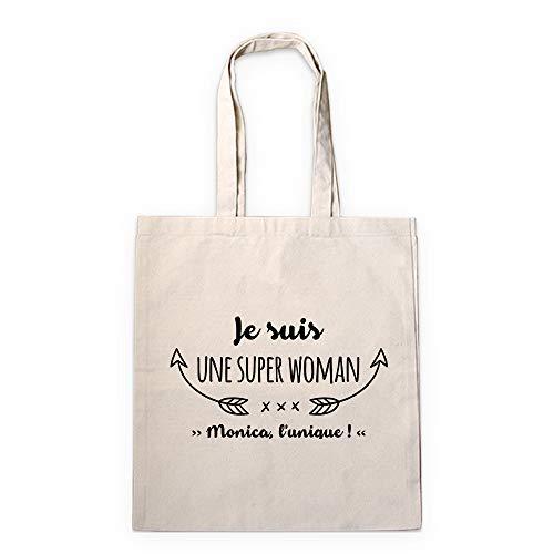 CADEAUX.COM Tote bag personnalisable - Je suis super - Sac 100% coton naturel