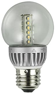 Lights of America 2326LED-LF4-24 2-Watt Power LED G16 Globe Bulb, Bright White (B004NYAPYA) | Amazon price tracker / tracking, Amazon price history charts, Amazon price watches, Amazon price drop alerts