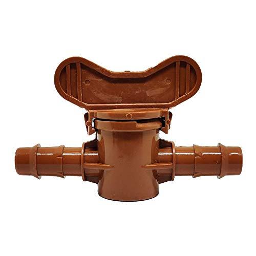 RIEGOPRO Llave de Paso marrón 16mm (10 Unidades)