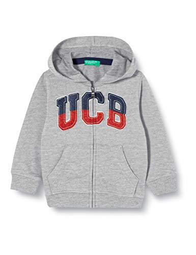 United Colors of Benetton Baby-Jongens Felpa Zip gebreide jas