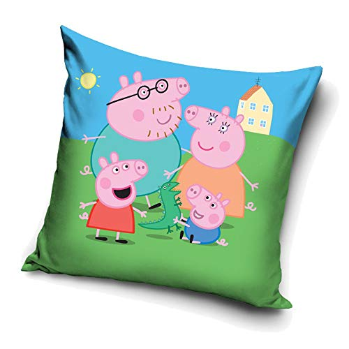 Peppa Familie | Kinder Kissen 40 x 40 cm Wutz Pig | Dekokissen