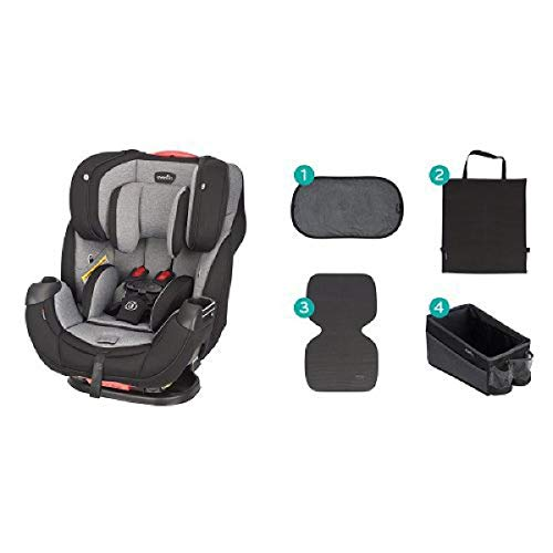 Evenflo Platinum Symphony Elite All-In-One Car Seat, Ashland Gray with Car Seat Accessory Kit