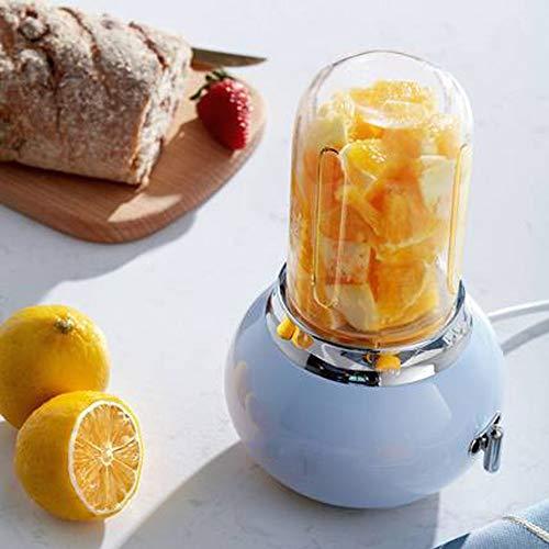 Juicer, Batido De Frutas, Exprimidor Vegetal, Máquina De Mezcla De Suplemento Alimenticio Multifuncional Pequeño, Alto Valor, Delicado Y Sin Residuos (Color : Blue)