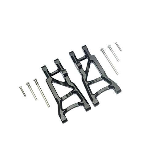TwoCC Rc Zubehör, Aluminium Hinterer Unterarm Aluminium Hinterer Querlenker für Traxxas Slash 2Wd 1/10 Rc Auto Upgrade Teil (Schwarz)