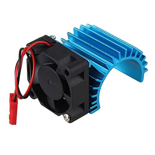Mxfans 308006 Blue Aluminum Alloy 380 Motor heatsink with Fan for RC Car Motor Heat Sink