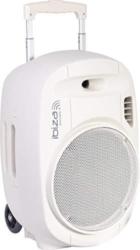 "PORT12UHF - WH - MKII - Ibiza - Sistema De Sonorización Portátil Autónomo 12""/700W CON USB - MP3, REC, VOX, BLUETOOTH, 2 MICROS UHF, Gris"