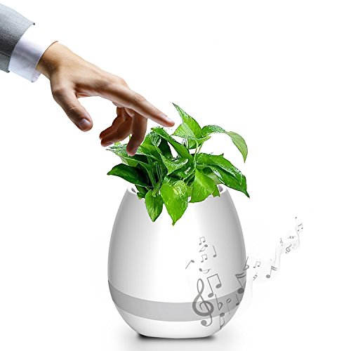 Music Flower pot Knaclean altoparlante bluetooth ricaricabile luce notturna LED wireless Smart Touch piano Music vaso