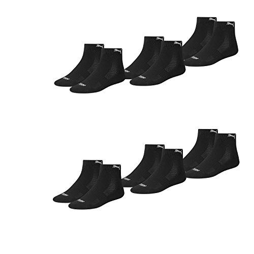 PUMA Unisex Match Quarters Socken Sportsocken MIT FROTTEESOHLE 12er Pack Black 200-39/42 (schwarz (200), 39-42)