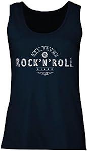 lepni.me Camisetas sin Mangas para Mujer Sex Drugs and Rock and Roll - 1960s, 1970s, 1980s - Banda de Rock Vintage - Musicalmente - Ropa de Concierto (XX-Large Azul Multicolor)
