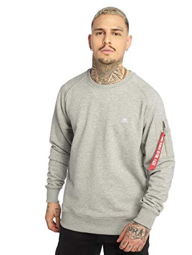 ALPHA INDUSTRIES Herren 158320 Sweatshirt, Grey, S Regular
